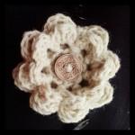 Rožica iz surove volne z našim gumbom (foto: Quatsch)